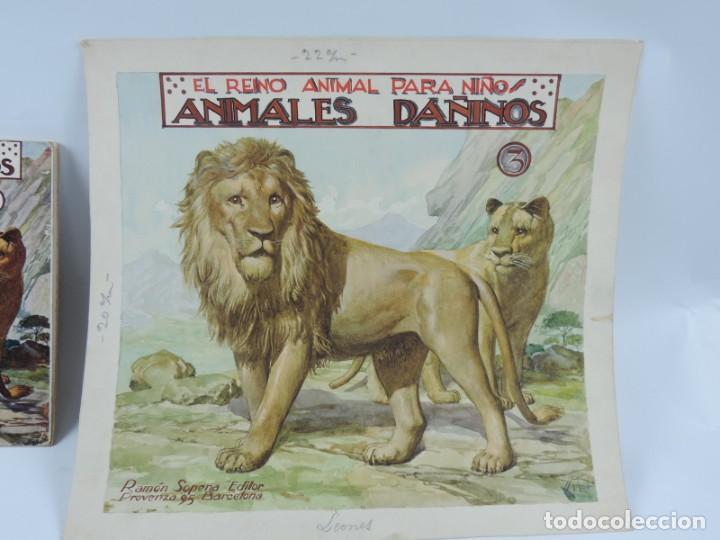 Arte: Acuarela original de la portada del cuento Animales Dañinos 3, ilustrador Luis Palao, junto con el c - Foto 2 - 195355805