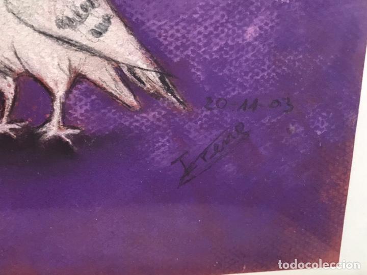 Arte: Dibujo a la cera firmado - Foto 6 - 195365948