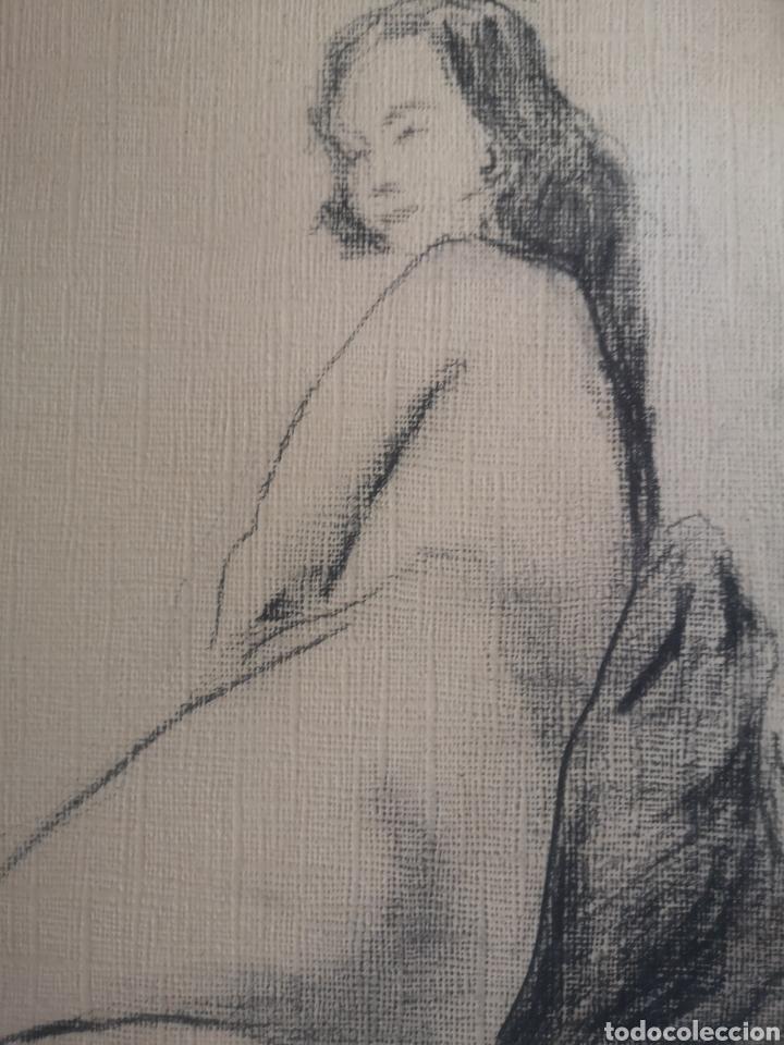 Arte: Desnudo femenino, años 20. Dibujo carboncillo 34x27cm - Foto 2 - 195369347