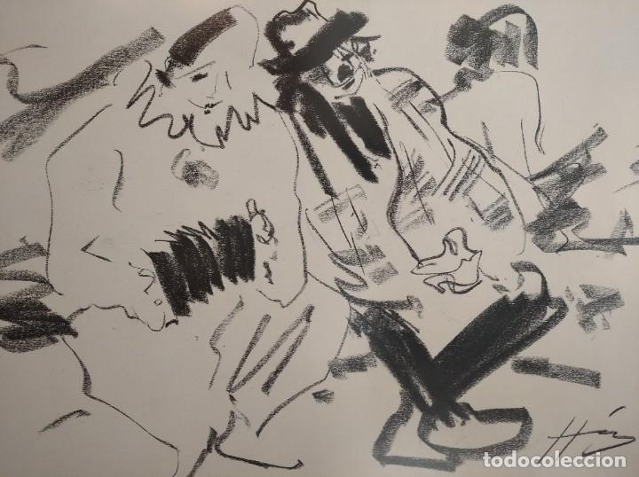 BOCETOS AL CARBONCILLO IGNACIO DEL RÍO. (Arte - Dibujos - Contemporáneos siglo XX)