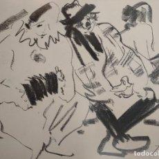 Arte: BOCETOS AL CARBONCILLO IGNACIO DEL RÍO.. Lote 195379320
