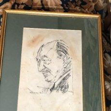 Arte: MANUEL MAMPASO. DIBUJO ORIGINAL DE FERNÁNDEZ FLORES, 1995. A CORUÑA, GALICIA.. Lote 195392591