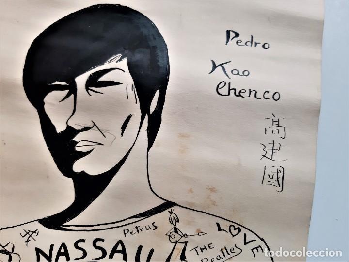 Arte: ORIGINAL DIBUJO LAMINA PEDRO KAO CHENCO 1969 - 32 X 50.CM - Foto 3 - 195404962