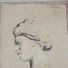 Arte: DIBUJO ACADEMICO ANTIGUO, FECHADO 1910 MEDIDAS 31X22. Lote 195439311