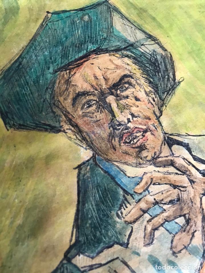 Arte: DIBUJO FIRMADO DEL OESTE WESTERN. - Foto 3 - 195460485