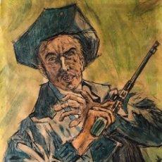 Arte: DIBUJO FIRMADO DEL OESTE WESTERN.. Lote 195460485