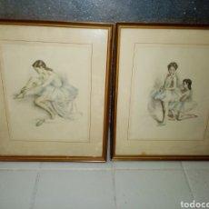 Arte: F. GISBERT SOLER... DIBUJOS DE BAILARINAS DE BALLET. Lote 195476793