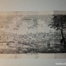 Arte: VISTA DE CUENCA. GRABADO CALCOGRÁFICO FINALES XVIII PRINCIPIOS XIX. 27X16 CM. Lote 195502031