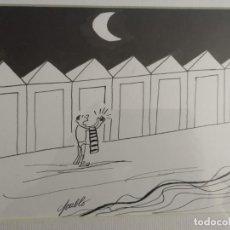 Arte: PABLO ,DIBUJO ORIGINAL. LA CODORNIZ. Lote 195510988