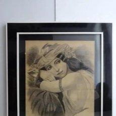 Arte: AÑO 1903 - DIBUJO - ODALISCA - C. CALLICO. Lote 195535208
