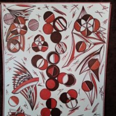 Arte: DIBUJO (ABSTRACCIÓN GEOMÉTRICA). * COMPOSICIÓN 20 *. (TM). DE D. NAVASCUÉS. Lote 195736448