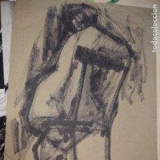 Arte: DIBUJO DESNUDO FEMENINO IMPRESIONISTA FIRMADO V SILVESTRE.. Lote 195775272