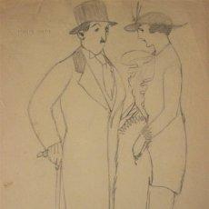 Arte: DIBUJO DE ISMAEL SMITH (1886-1972). Lote 195865228