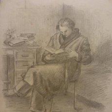 Arte: ORIGINAL. OBRA DE FRANCESC GASSÓ. HOMBRE. MEDIDAS 24*18 CM. Lote 196093296
