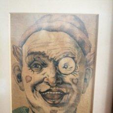Arte: EXTRAORDINARIO DIBUJO. SIN FIRMA.. Lote 196274213