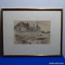 Arte: BONITO DIBUJO A CARBONCILLO DE JOAQUÍN MIR(1873-1940).. Lote 196318595