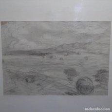 Arte: BONITO DIBUJO A LAPIZ DE JOAQUÍN MIR(1873-1940).. Lote 196318700