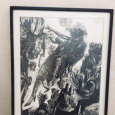 Arte: DIBUJO A TINTA FIRMADO MARQUEZ ALCALA SEVILLA 73 BAILAORA FLAMENCO 84X62CMS. Lote 196368808
