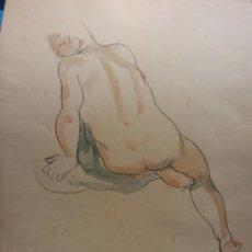 Art: ORIGINAL. OBRA DE FRANCESC GASSÓ. HOMBRE. MEDIDAS 32*25 CM. Lote 196497281