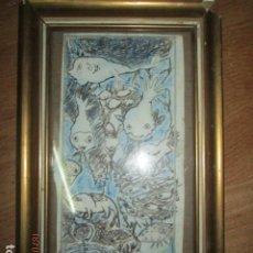 Arte: ANTIGUA PINTURA ORIGINAL DIBUJO COLOREADO. Lote 196655440