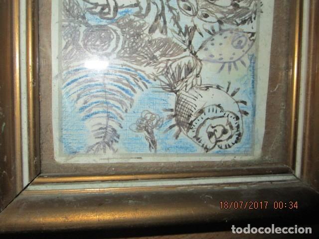 Arte: antigua pintura original dibujo coloreado - Foto 3 - 196655440