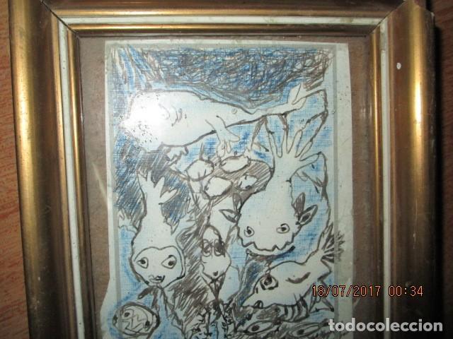 Arte: antigua pintura original dibujo coloreado - Foto 4 - 196655440