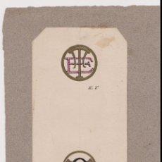 Arte: DIBUJO EN TINTA DE YANÇ - ENLAZOS - UNICO EJEMPLAR - E.T. - S.R.Q. - YANÇ (A. YANÇ) - 1913. Lote 196918290