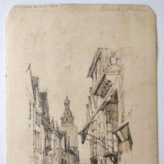 Arte: MAGISTRAL DIBUJO ORIGINAL DE EXCELENTE CALIDAD, FIRMADO Y FECHADO 1863. Lote 196970776