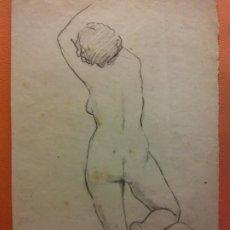 Arte: ORIGINAL. OBRA DE JOSEP CUCALA. MUJER. MEDIDAS 25*35 CM. UNA VERDADERA OBRA DE ARTE. Lote 196979815