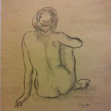 Arte: ORIGINAL. OBRA DE JOSEP CUCALA. MUJER. MEDIDAS 25*34 CM. UNA VERDADERA OBRA DE ARTE. Lote 196980952