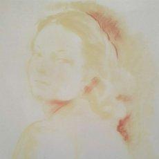 Arte: JOSEP PUIGDENGOLAS BARELLA (BARCELONA, 1906-1987) - RETRATO DE MUCHACHA.SANGUINA.FIRMADO.. Lote 197063995
