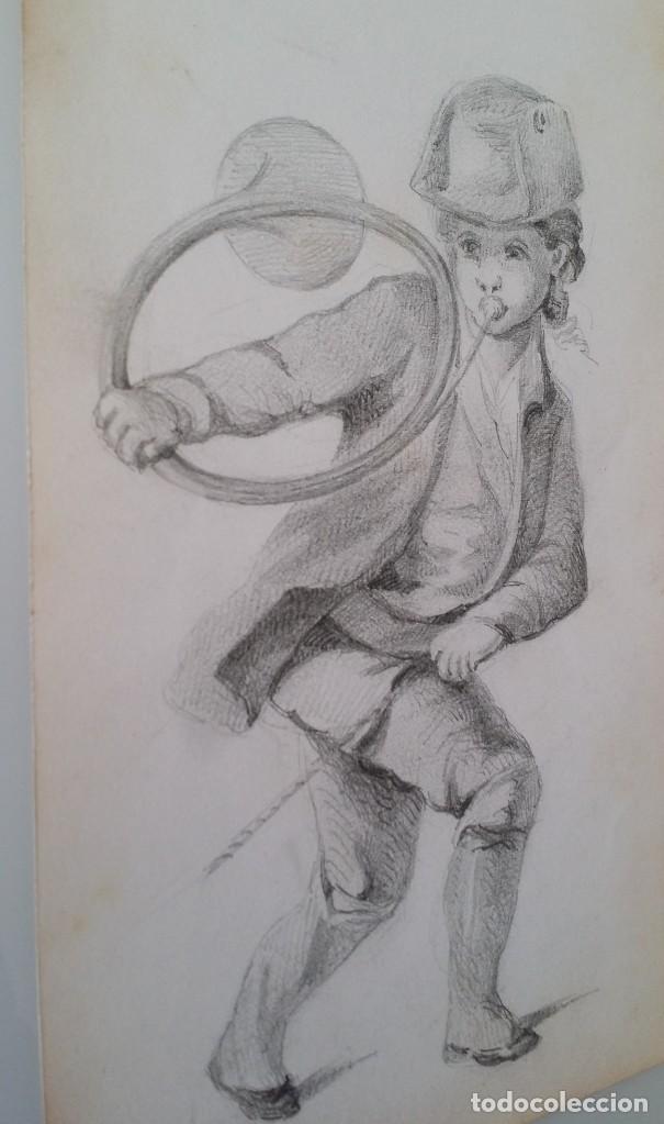 Arte: Dibujo de niño jugando, XIX - Foto 3 - 197189588