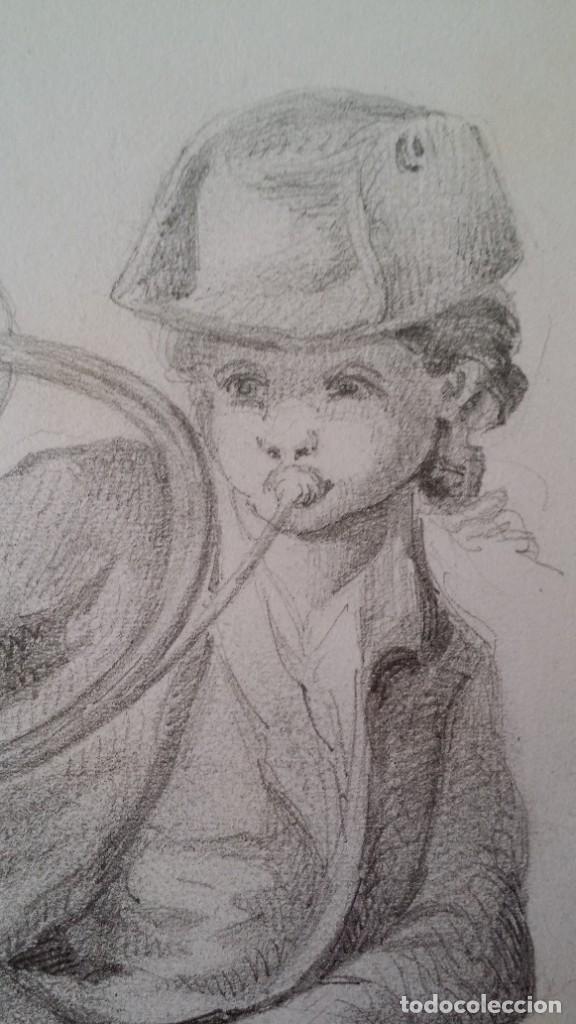Arte: Dibujo de niño jugando, XIX - Foto 4 - 197189588