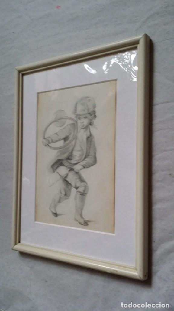 Arte: Dibujo de niño jugando, XIX - Foto 9 - 197189588