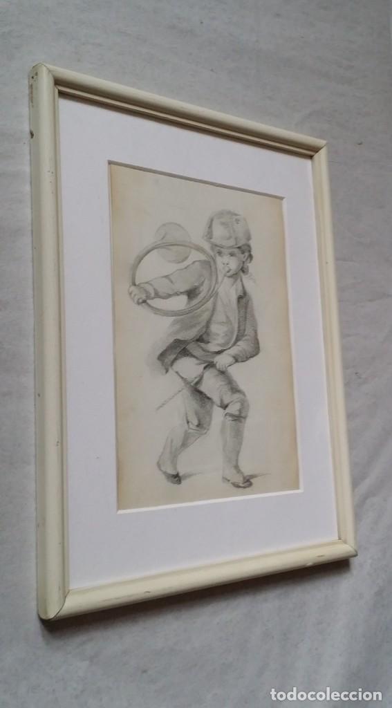 Arte: Dibujo de niño jugando, XIX - Foto 10 - 197189588