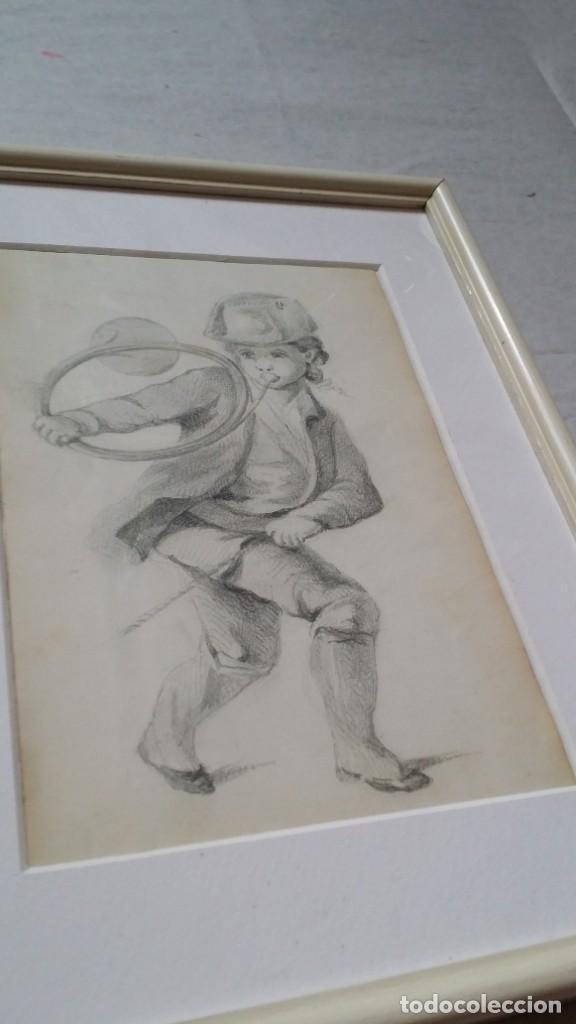 Arte: Dibujo de niño jugando, XIX - Foto 11 - 197189588