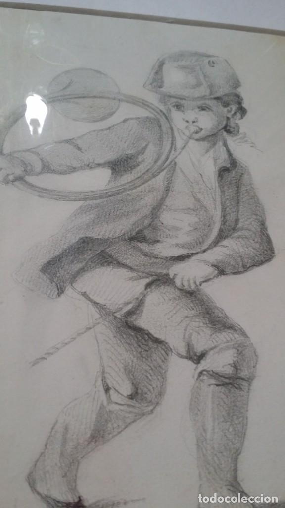 Arte: Dibujo de niño jugando, XIX - Foto 12 - 197189588