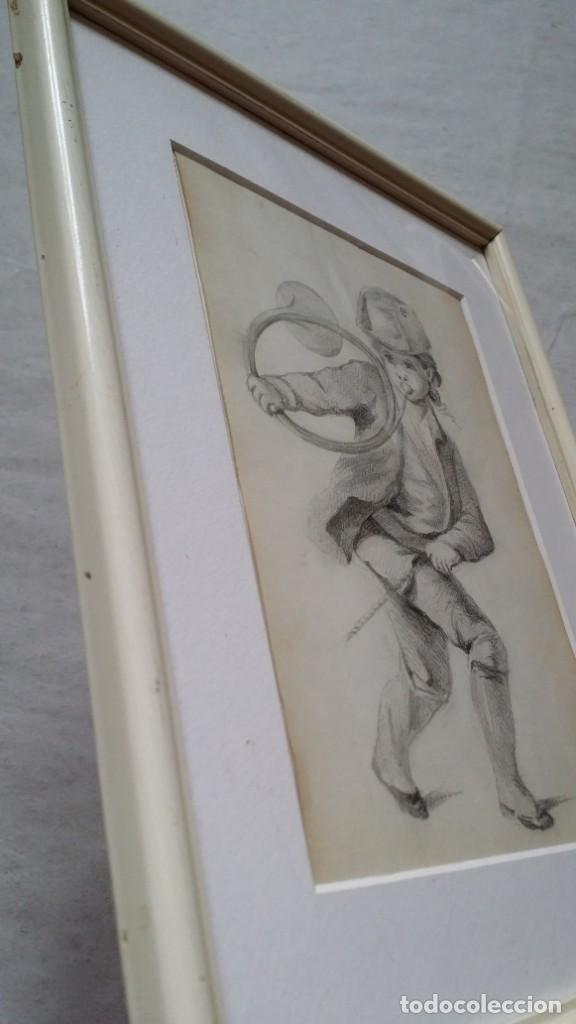 Arte: Dibujo de niño jugando, XIX - Foto 13 - 197189588