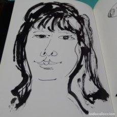 Arte: DIBUJO-RETRATO A LA TINTA DE JORDI CUROS EN LIBRO DE JOSEP MARIA CADENA.1987.. Lote 197231915