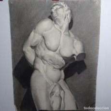 Arte: DIBUJO ACADÉMICO DE ANTONI MUNILL PUIG(BARCELONA 1939-1977).GRAN CALIDAD.. Lote 197310376