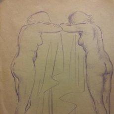 Art: ORIGINAL. OBRA DE FRANCESC GASSÓ. MUJER. MEDIDAS 27*21 CM. Lote 197319977