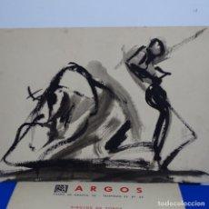 Arte: DIBUJO TINTA DE FRANCISCO J. COLL RODRÍGUEZ(1915-1959).GRAN DOMINIO DEL MOVIMIENTO.. Lote 197429187