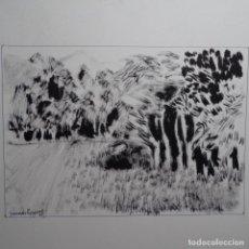 Arte: DIBUJO A TINTA DE GRANADOS LLIMONA 74. Lote 197431986
