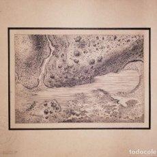 Arte: DIBUJO A PLUMILLA, VISTA AÉREA DEL RÍO GENIL (GRANADA) II. Lote 197461025