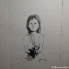 Arte: DIBUJO A TINTA DE MARCELO MAYORGA(BUENOS AIRES 1941).. Lote 197477267