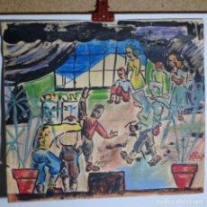 Arte: DIBUJO Y CERAS ILEGIBLE DEL AÑO 54.. Lote 197818185