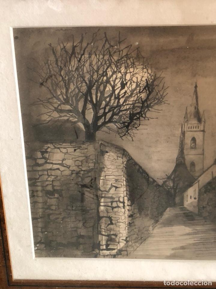 Arte: Bonito dibujo echo a carboncillo, firmado - Foto 2 - 197900403