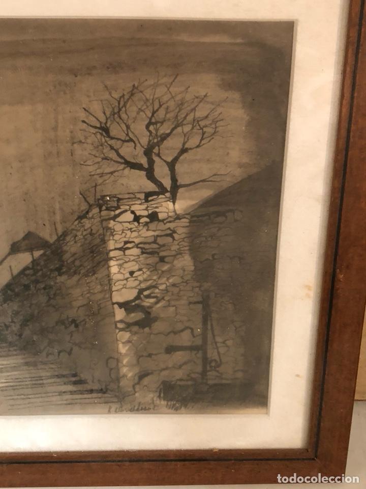 Arte: Bonito dibujo echo a carboncillo, firmado - Foto 4 - 197900403