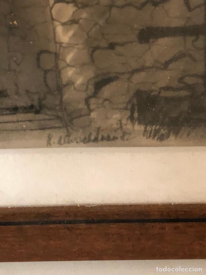 Arte: Bonito dibujo echo a carboncillo, firmado - Foto 5 - 197900403