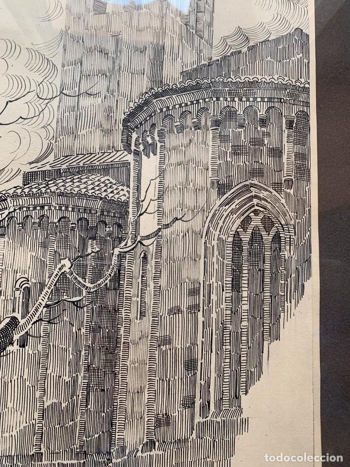 Arte: PERE MARRA * MONESTIR DE SANT CUGAT DEL VALLÉS. GENER DE 1945. FIRMADO - Foto 3 - 198063486